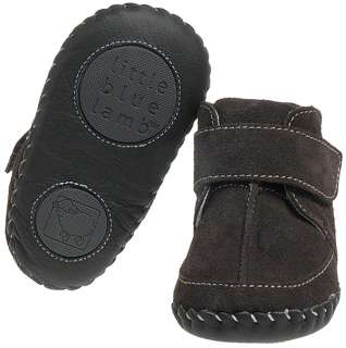 Leather Soft Sole Baby Shoes Boots   Brown with a Warm Fleecy Lining