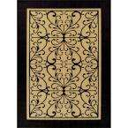 for Scroll Beige/Black 5 ft. 3 in. x 7 ft. 4 in. Indoor/Outdoor Rug