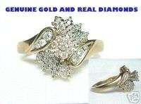 BEAUTIFUL REAL GOLD 1/2 CARAT REAL DIAMOND RING