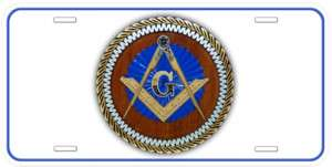Masonic Mason White Aluminum Car Novelty License Plate