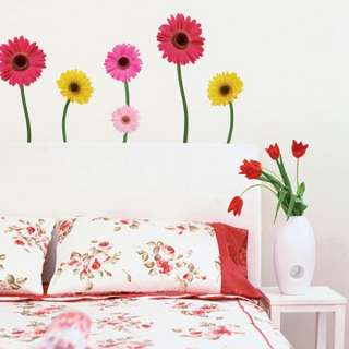 DAISY FLOWERS Home Art Decor Mural Point Sticker Paper