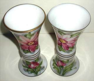 Deluxe Inc. Bristol Vases Hand Painted & Signed POPPY