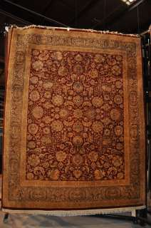 8x10 FINE WOOL HAND KNOTTED AREA RUG RUST GRAY PERSIAN