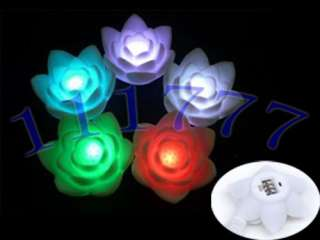 Romantic living color changing LED Lotus lamp lights