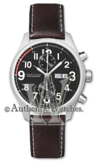 BRAND NEW HAMILTON KHAKI OFFICER MENS AUTOMATIC DAY DATE WATCH