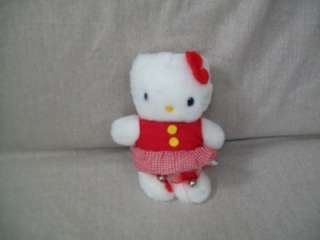 SANRIO HELLO KITTY PLUSH CAT 1990 DRESSED BELLS ON FEET