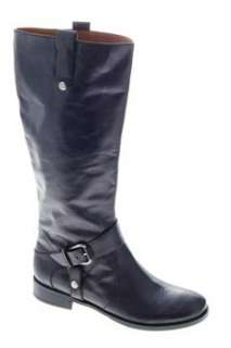 Nine West NEW Take Down Womens Mid Calf Boots Black Medium Leather 9.5
