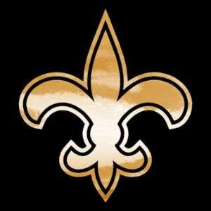 Saints Fleur de lis Gold Chrome Auto Window Decals NFL