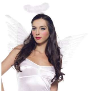 Halloween Costumes White Deluxe Feather Angel Accessory Kit (Adult)