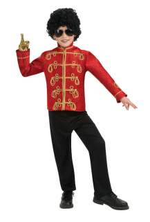 Michael Jackson Deluxe Red Military Jacket Child Costume for Halloween