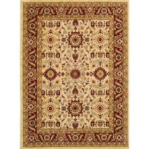 Antique Kashan Area Rug   23 x 33   Cream, Red