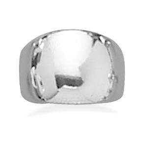 Domed Cigar Band Ring Polished Sterling Silver Mens Womens