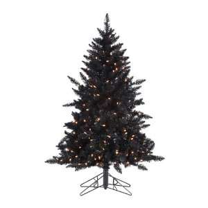 Pre Lit Designer Black Ashley Spruce Artificial Christmas Tree
