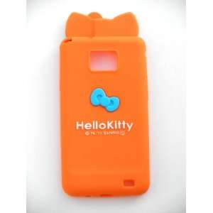 Hello Kitty Ear Bow Silicone Case Cover ORANGE for
