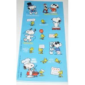 Peanuts Snoopy & Woodstock Reward Sticker Sheets Toys & Games