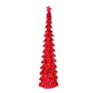 Large Christmas Tree Decoration   Red, Glitter