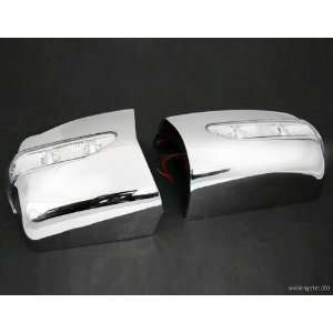 Chrome Side Mirror Cover w/ Turning Signal Light for 1986 to 1995 W124