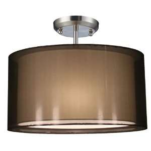 Z Lite 144 15BK SF Nikko 3 Light Semi Flush Ceiling Mount