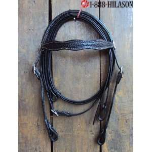 Western Leather Tack Horse Bridle Headstall Reins 020