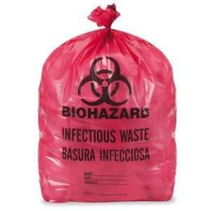 24 x 23 7 10 Gallon Red Biohazard Trash Liner