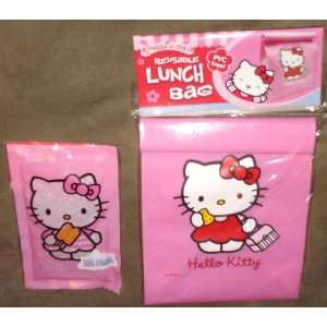 Hello Kitty Reusable Lunch Bag with Bonus Ice Pack