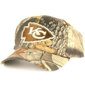 NFL Kansas City Chiefs Real Tree Camouflage Baseball Hat Cap Lid