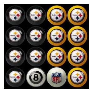 Pittsburgh Steelers Home vs Away NFL Pool Ball Set Sports