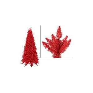 10 Pre Lit Slim Red Ashley Spruce Artificial Christmas Tree   Red