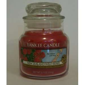 New Zealand Wild Berry   3.7oz Yankee Candle Jar