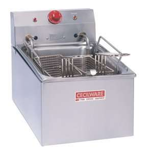 208 Volts Cecilware EL 250 Stainless Steel Countertop Electric Fryer