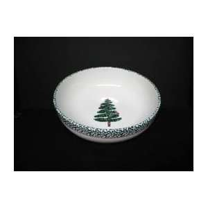 Furio Home Sponge Christmas Tree Pattern Large Salad   Serving bowl