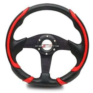 Battle Style Racing Steering Wheel   Black Automotive