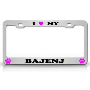I LOVE MY BAJENJ Dog Pet Animal High Quality STEEL /METAL