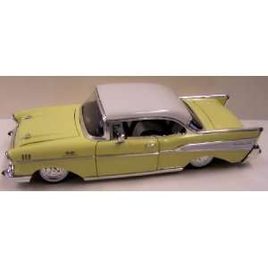 Floor 1957 Chevy Bel Air in Color Yellow with White Top Toys & Games