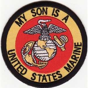 MY SON IS A US MARINE USMC Quality Biker Vest Patch
