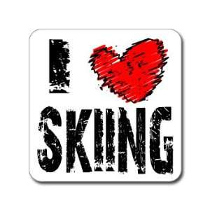 I Love Heart SKIING   Window Bumper Laptop Sticker
