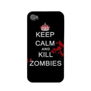 keep calm and kill zombies Iphone 4 Cases Electronics
