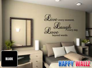 LIVE LAUGH LOVE VINYL WALL STICKER FAMILY LIVING ROOM ART DECAL QUOTE