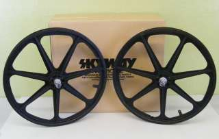 Mag Wheels Black NEW We are offering two wheels as shown (one front